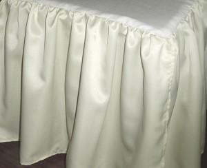 3/4 Three Quarter Ivory Satin Dustruffle Bedskirt