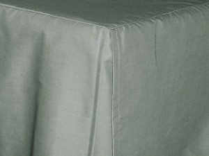 Twin Medium Gray Tailored Dustruffle Bedskirt