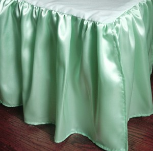 Antique Mint Seafoam Satin Dustruffle Bedskirt