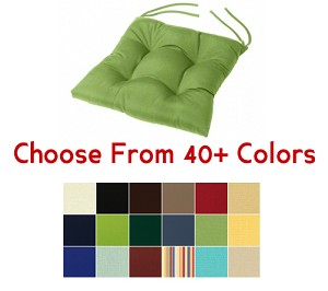 "Tufted Chair Cushion 16"" x 16"", CHOOSE YOUR COLOR"