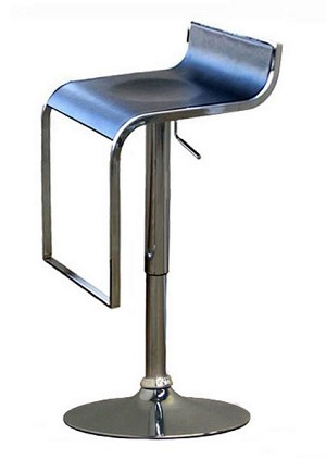LEM Piston Style Stool in Black Finish