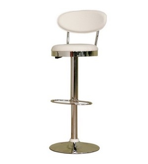 Achilla White Adjustable Barstool