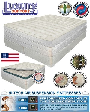 Eastern King Medallion Dual Chamber Adjustable Comfort Air Mattress