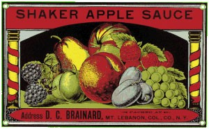 Shaker Applesauce Metal Sign