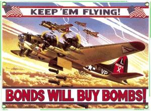 B-17 Bomber Metal Sign