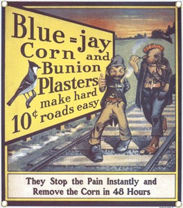 Blue Jay Plasters Metal Sign