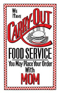 Carry Out Metal Sign
