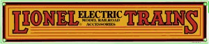 Lionel Electric Trains Metal Sign