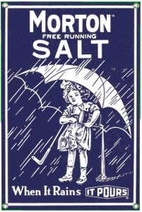 Morton Salt 1914 Metal Sign