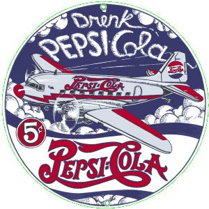 Pepsi DC 3 Metal Sign
