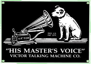 RCA Masters Voice Metal Sign