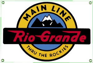 Rio Grande Railroad Metal Sign