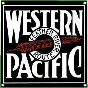 Western Pacific Metal Sign