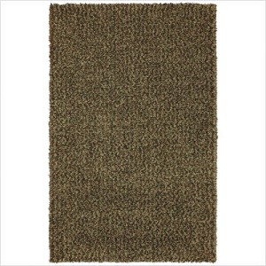Shag Rug Deep Green color, Size 5' x 8', Pile Height 2""