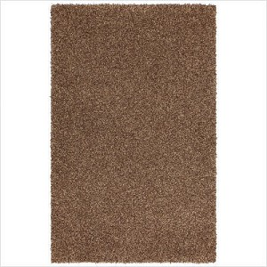 Shag Rug Hazel Gold color, Size 5' x 8', Pile Height 2""