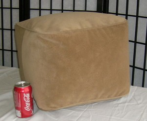 Bean Bag Ottoman Small Ultra Suede Buff