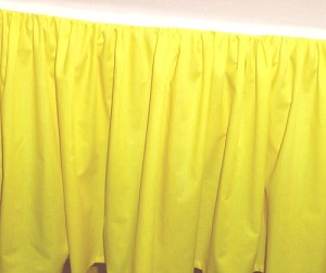 Bright Yellow Dustruffle Bedskirt 3/4 Three Quarter Size