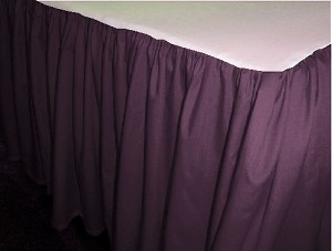 Eggplant Purple Dustruffle Bedskirt Full/Double Size