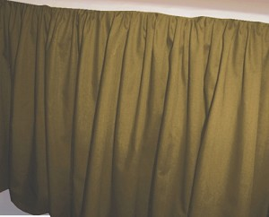 Olive Green Dustruffle Bedskirt Twin XL Size