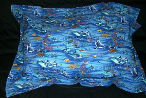 Dolphin Bedding Full Size Pillow Sham with Flange
