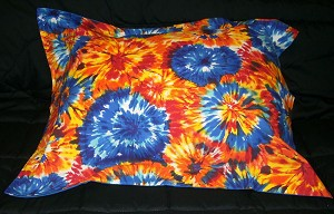 Tie Dye Bedding Full Size Pillow Sham with Flange