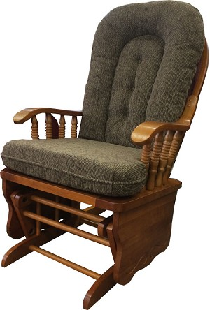 Fast Ship Glider Rocker With Maple Colored Cushions