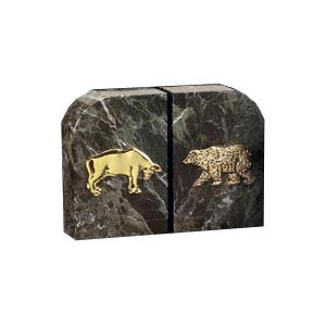 Solid Marble Stock Market Bookends