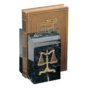 Solid Marble Lawyer Bookends