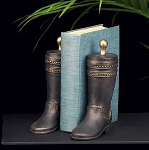 Bronzed Boot Bookends