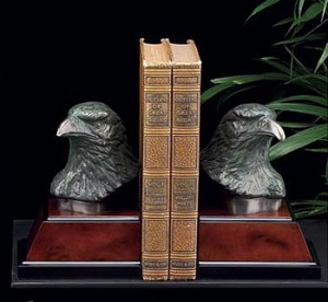 Bronzed Eagle Bookends