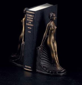 Bronze Lady Bookends