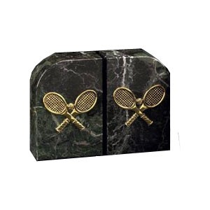 Solid Marble Tennis Bookends
