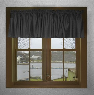 Black Window Valance