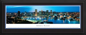 Baltimore, Maryland Deluxe Framed Skyline Picture