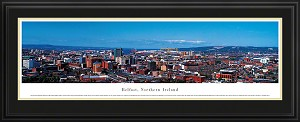 Belfast, Northern Ireland Deluxe Framed Skyline Picture