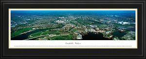 Cardiff, Wales Deluxe Framed Skyline Picture