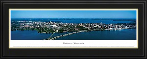 Madison, Wisconsin Deluxe Framed Skyline Picture