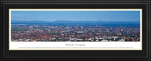 Munich, Germany Deluxe Framed Skyline Picture 1