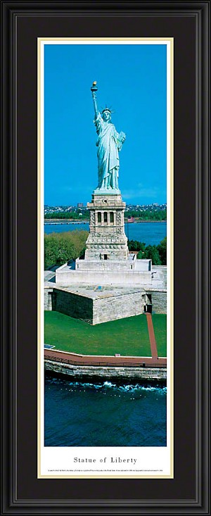 Statue of Liberty Deluxe Framed Skyline Picture