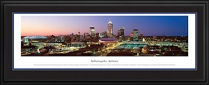 Indianapolis, Indiana Deluxe Framed Skyline Picture 2