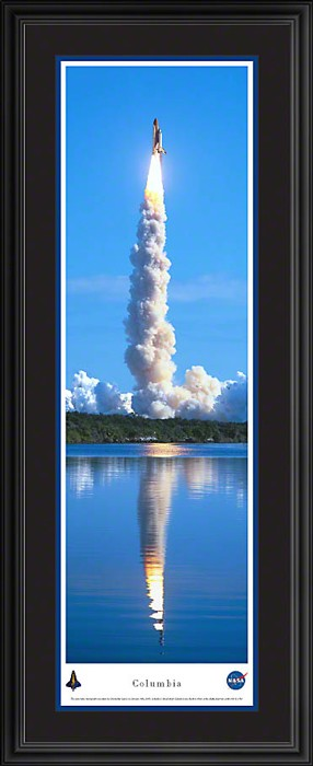 Columbia Shuttle Taking Off Deluxe Framed Skyline Picture