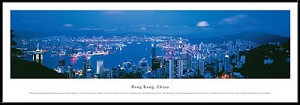 Hong Kong, China Framed Skyline Picture