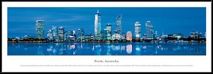 Perth, Australia Framed Skyline Picture