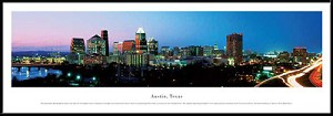 Austin, Texas Framed Skyline Picture 2