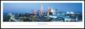 Cleveland, Ohio Framed Skyline Picture 1