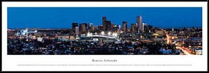 Denver, Colorado Framed Skyline Picture 4