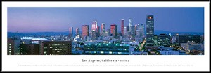 Los Angeles, California Framed Skyline Picture 2b