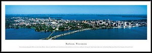 Madison, Wisconsin Framed Skyline Picture