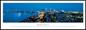 Memphis, Tennessee Framed Skyline Picture 2