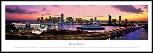 Miami, Florida Framed Skyline Picture